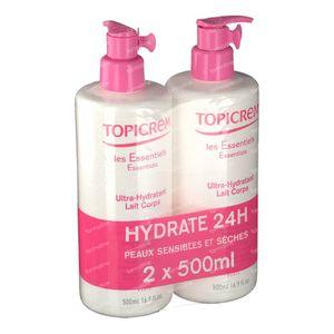 Topicrem Liberty Lait Corporel Ultra Hydratant Duo Édition Limitée 2x500 ml