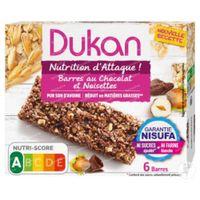 Dukan Barre Chocolat Avec Noix 6 pièces