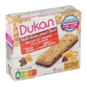 Dukan Barre Orange + Glaçage au Chocolat 6 st