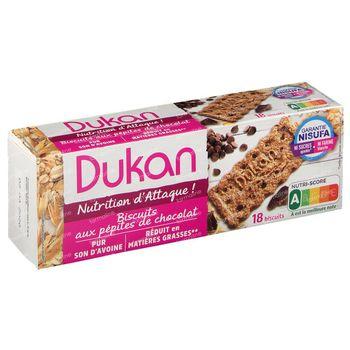 Dukan Biscuits Pépites de Chocolat 18 pièces
