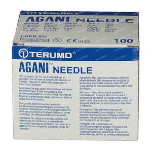 Terumo Agani Disposable Needle 20gx1 1/2 rb 0,9x40 100 pieces
