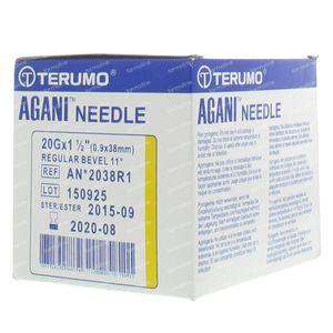 Terumo Agani Disposable Needle 20gx1 1/2 rb 0,9x40 100 St
