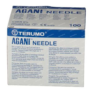 Terumo Agani Aiguille Jetable 23gx1 1/4 0,60x30 100 pièces