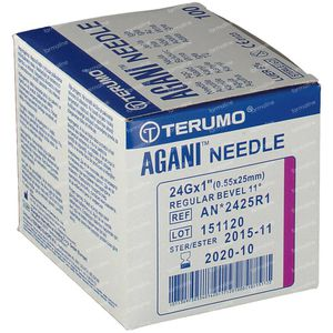 Terumo Agani Aiguille Jetable 24gx1 0.55x25 100 pièces