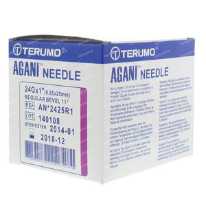 Terumo Agani Disposable Needle 24gx1 0.55x25 100 St