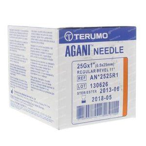 Terumo Agani Aiguille Jetable 25gx1 rb 0.50x25 100 pièces