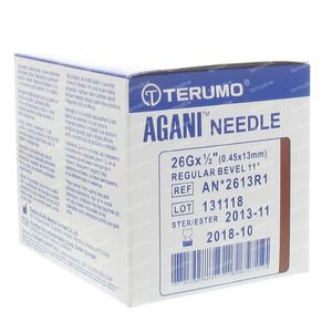 Terumo Agani Disposable Needle 26gx1/2 rb 0,45x12 100 pieces