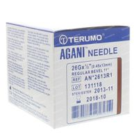 Terumo Agani Wegwerpnaald 26gx1/2 rb 0,45x12 100 st