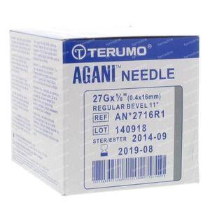 Terumo Agani Aiguille Jetable 27gx5/8 rb 0,4x16 100 pièces