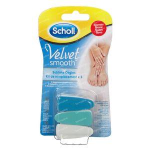 Scholl Velvet Sublime Ersatzkit 3 st