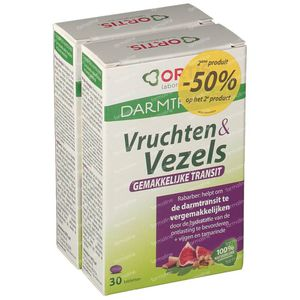 Ortis Fruits + Fibres Transit 2ième à -50% 2x30 comprimés