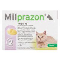 Milprazon 4mg/10mg Kat >0,5kg 1x2  tabletten