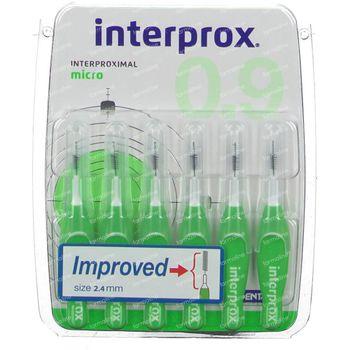 Interprox Premium micro 0.9 groen 2.4mm 6 stuks