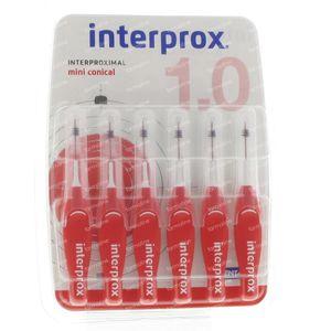 Interprox Premium Brosse Interdentaire Mini Conique Rouge Conique 2-4mm 6 pièces