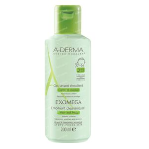 A-Derma Exomega Cleansing Gel 2in1 Hair & Body 200 ml