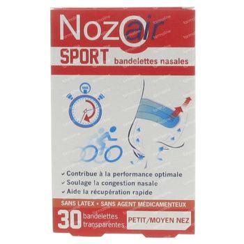 Nozoair Sport Neusstrips Small/Medium 30 stuks