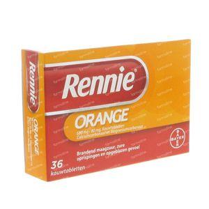 Rennie Orange 36 kauwtabletten