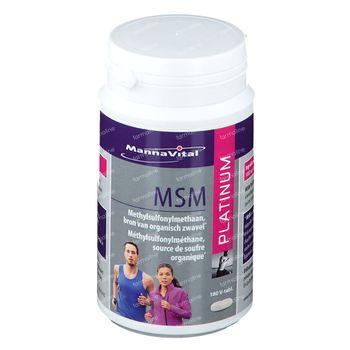 Mannavital MSM Platinum 180 comprimés