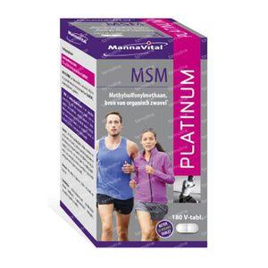 Mannavital MSM Platinum 180 stuks Tabletten