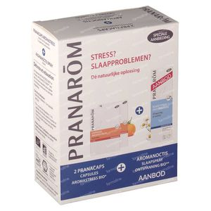 Pranarom Aromanoctis Spray Sommeil + Aromastress 2x30 Gelules 1 pièce