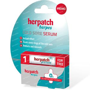 Herpatch Serum Koortsblaasjes + Prevent Stick 5 ml + 4,8 g