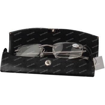 Pharma Glasses Leesbril Rimless Gun +4.00 1 stuk