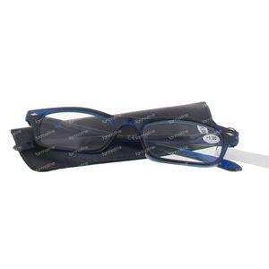 Pharma Glasses Leesbril Donker Blauw +1.00 1 stuk