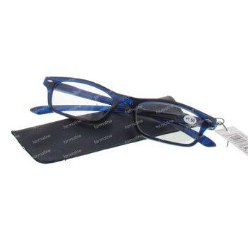 Pharma Glasses Leesbril Donker Blauw +1.50 1 stuk