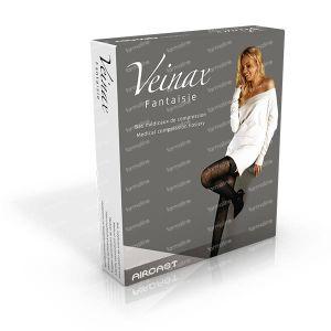 Veinax Hold Ups Cuisse Transparent Noir Classe 2 Taille 4 1 pièce