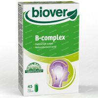 Biover Biover B-complex - Système Nerveux - Complément Alimentaire pour le Stress - avec Complexe de Vitamines B 45  comprimés
