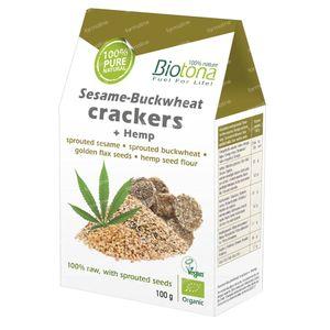 Biotona Bio Crackers Sesam Boekweit 100 g