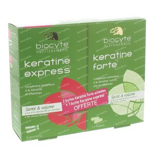 Biocyte Keratine Forte + 10 sticks Gratuit 80 capsules