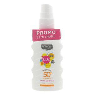 Bodysol Zonnespray Kinderen Hydraterend Spf50 + 175 ml