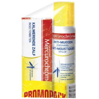 Mercurochrome Spray Anti-Moustique + Crème Apaisante Piqûres d'Insects 1 set