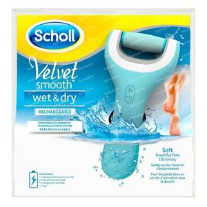 Scholl Velvet Smooth Wet & Dry Oplaadbare Voetvijl 1 stuk