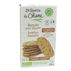 Celiane Ontbijtkoekjes Bio 150g 3 stuks