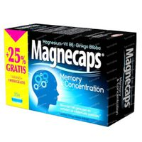Magnecaps Memory & Concentration Magnésium & Vit B6 & Ginkgo Biloba + 25% GRATUIT 35  capsules