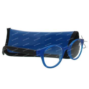 Pharma Glasses Leesbril Round Blauw/Zwart +1.00 1 stuk