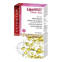 Fytostar LipoBIND Chitosan + Nopal 60  tabletten