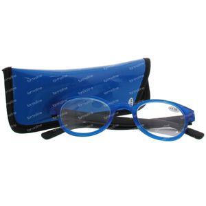 Pharma Glasses Leesbril Round Blauw/Zwart +1.50 1 stuk