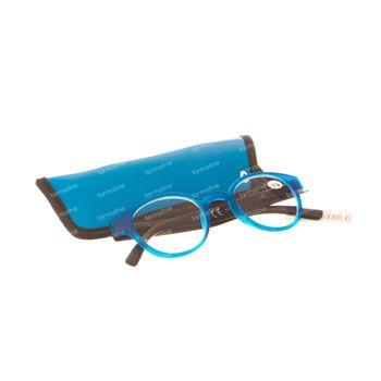 Pharma Glasses Leesbril Round Blauw/Zwart +2.50 1 stuk