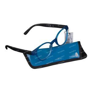 Pharma Glasses Leesbril Round Blauw/Zwart +3.00 1 stuk