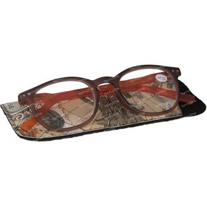 Pharma Glasses Reading Glasses Comp Brown/Orange + 1 1 item