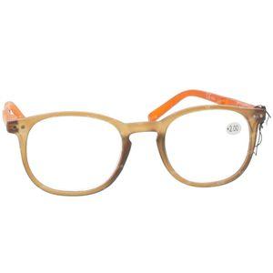 Pharma Glasses Leesbril Comp Bruin/Oranje +2.00 1 stuk