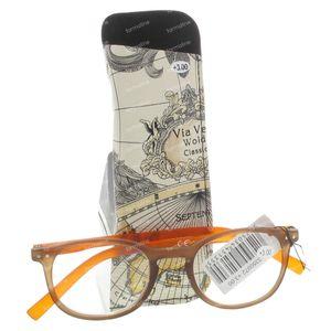 Pharma Glasses Lunettes Pour Lire Comp Bune/Orange +3 1 pièce