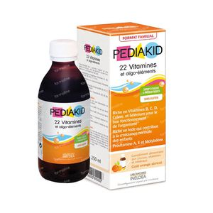 Pediakid 22 Vitamines & Oligo Éléments 250 ml
