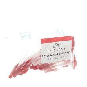 Tepe Interdental Brush Cyl. 0.50mm Rood XX-Fine 25 stuks