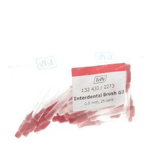 Tepe Brossettes Interdentaires 0.50mm Rouge 25 pièces