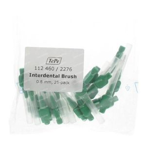 Tepe Brossettes Dentaires Vert 0.80mm 25 pièces