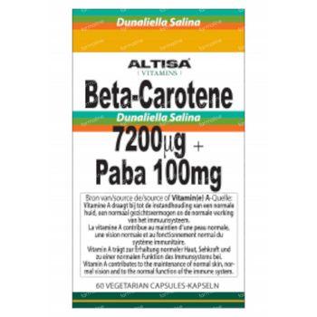 Altisa Bèta-Carotène 7200mcg + PABA 100mg 60 capsules
